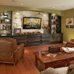 traditional media room by Graf Developments