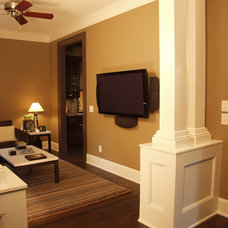 Traditional Home Theater by Red Level Renovations, LLC
