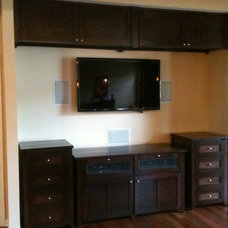 Traditional Home Theater by Crabtree Custom