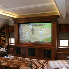 Contemporary Home Theater by Toby Leary Fine Woodworking Inc.