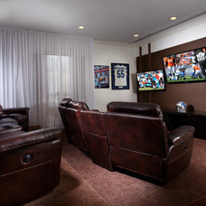Contemporary Home Theater by J Design Group - Interior Designers Miami - Modern