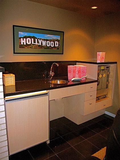 Contemporary Home Theater by InterDesign Studio