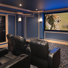 Contemporary Home Theater by Addition Building & Design, Inc.
