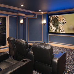 contemporary media room by Addition Building & Design, Inc.