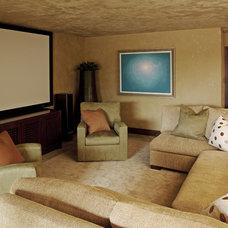 Beach Style Home Theater by mark cutler