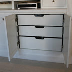 Built-in entertainment center/bookshelves - Eclectic ...