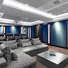 Contemporary Home Theater by Ann Love Interiors Inc.