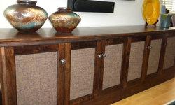 Can't find the furniture you want? Here's custom audio/video furniture...designe