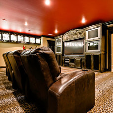 Traditional Home Theater by Celtic Custom Homes