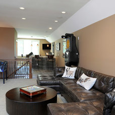 Contemporary Home Theater by Greater Dayton Building & Remodeling