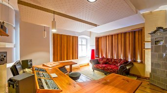 Castle Mastering Studio. Featuring Arqen acoustic diffusers built into the walls