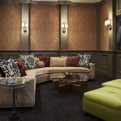mediterranean media room by Catherine Dolen & Associates