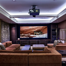 Transitional Home Theater by Graytek