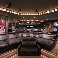 Modern Home Theater by Van Trease Constructors