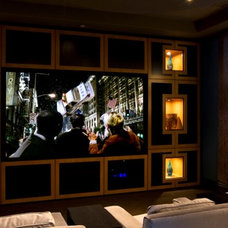 Contemporary Home Theater by Cedo Design