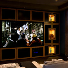 contemporary media room by Cedo Design