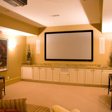 Traditional Home Theater by Paces Ferry Builders