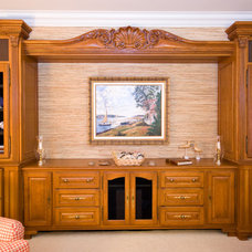 Traditional Home Theater by Hostetler Custom Cabinetry