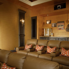 Traditional Home Theater by Guided Home Design