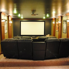 Modern Home Theater by Curve Point