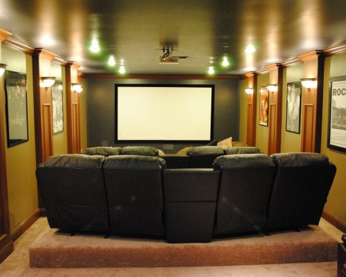 Best Long Narrow Room Home Theater Design Ideas amp Remodel