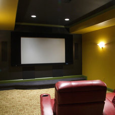 Traditional Home Theater by Gardner/Fox Associates, Inc