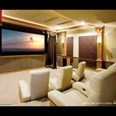 Traditional Home Theater by CINEAK luxury seating
