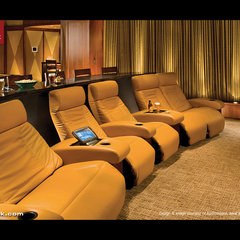 modern media room by CINEAK luxury seating