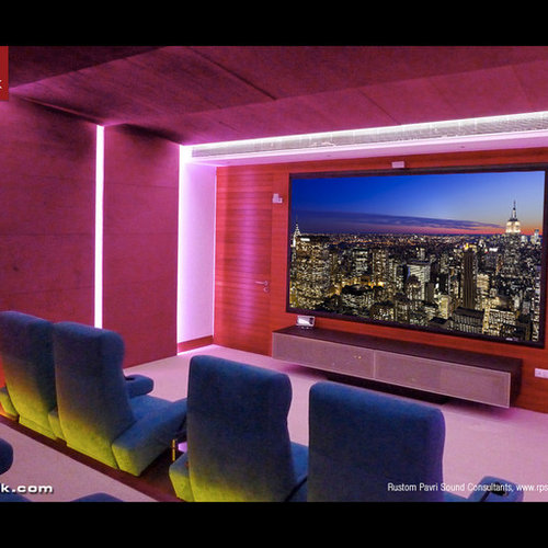 50 Best Modern Pink Home Theater Pictures - Modern Pink Home Theater ...