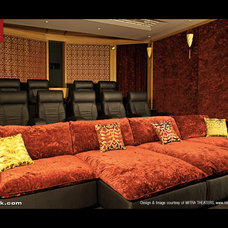 Modern Home Theater by CINEAK luxury seating