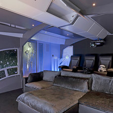 Eclectic Home Theater by CINEAK luxury seating