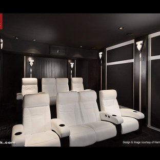Cineak White Fortuny Seats in Home Theater