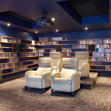 Contemporary Home Theater by Proscenium Design & Technologies