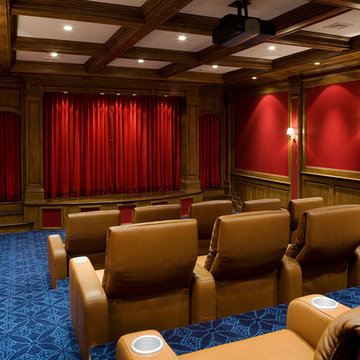Classic Luxury Home Movie Theater