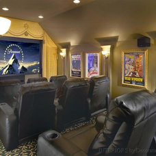 Traditional Home Theater by Ragan Corliss