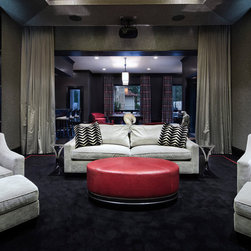 Houston Traditional Home Theater Design Ideas Pictures