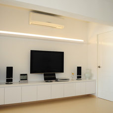 Contemporary Home Theater by Urban Home
