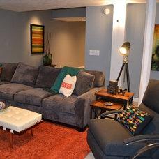 Contemporary Home Theater by Fluff Interior Design