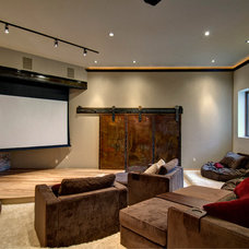 Contemporary Home Theater by Jon Eady Photographer