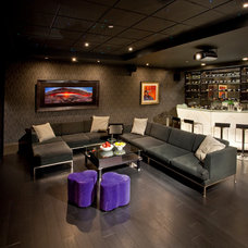 Contemporary Home Theater by VictorEric