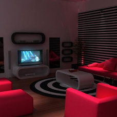 Modern Home Theater Club Media Room