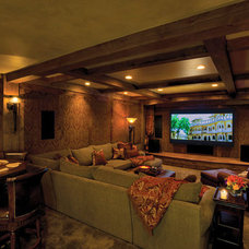 Traditional Home Theater by Locati Architects