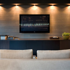 Contemporary Home Theater by Kelly Deck Design
