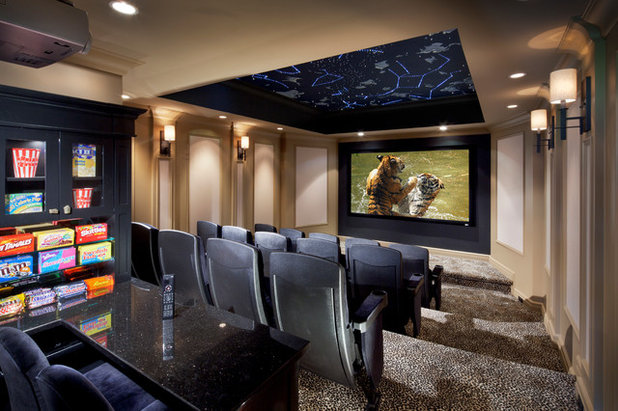 Popular Transitional Home Theater by Electronics Design Group Inc