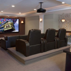 Contemporary Home Theater by Stone+Glidden, Inc