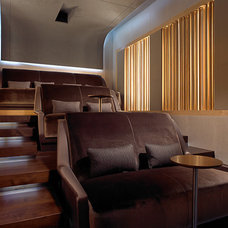 Modern Home Theater by Amy Lau Design