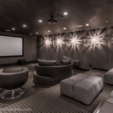 Contemporary Home Theater by dRichards Interiors
