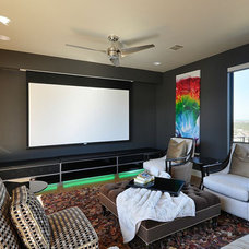 Contemporary Home Theater by Legend Lighting