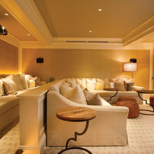 Traditional Home Theater Contemporary Home Theater