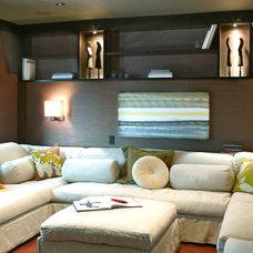 Contemporary Home Theater by Toro-Lombardo Design Build